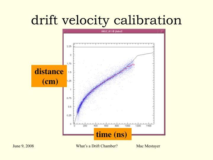 drift velocity calibration