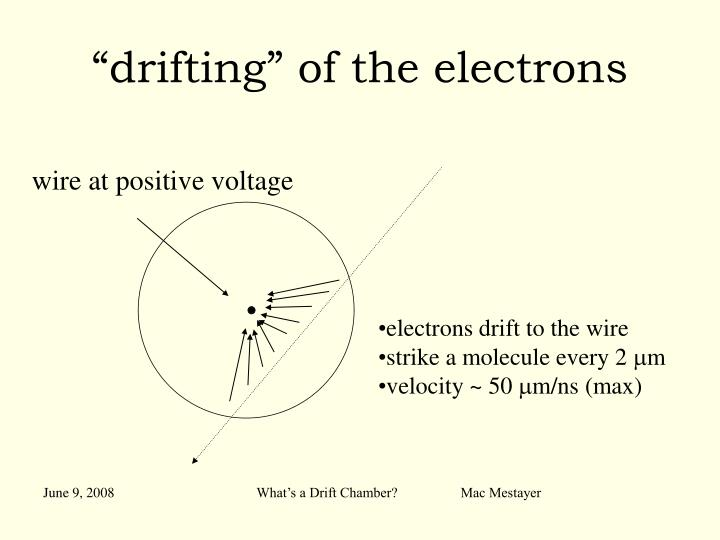 """""""drifting"""" of the electrons"""