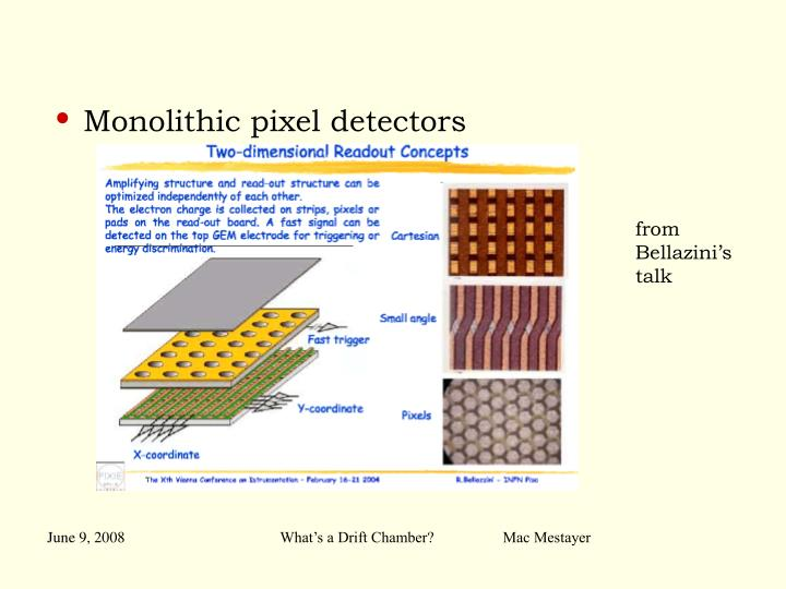 Monolithic pixel detectors
