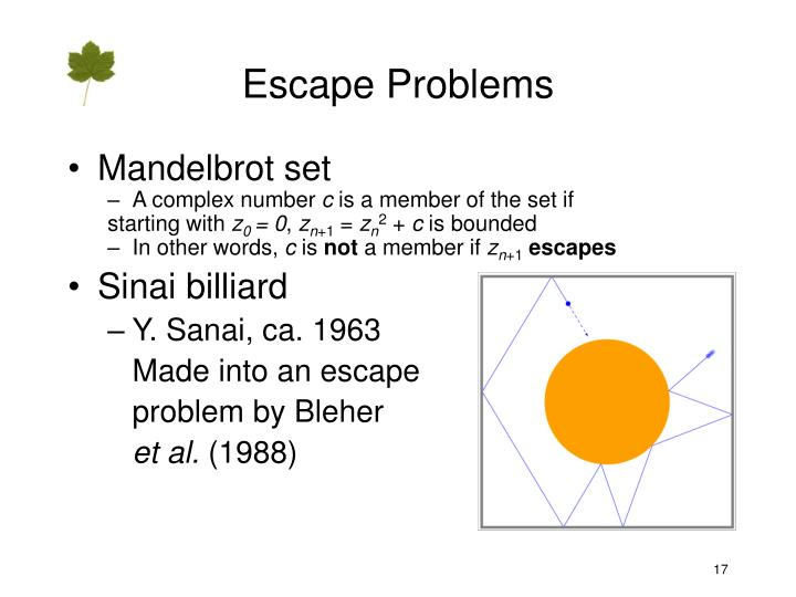 Escape Problems