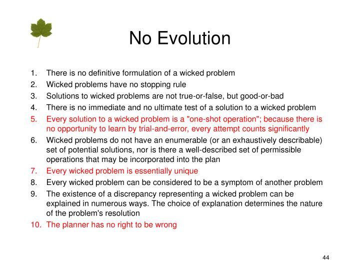 No Evolution