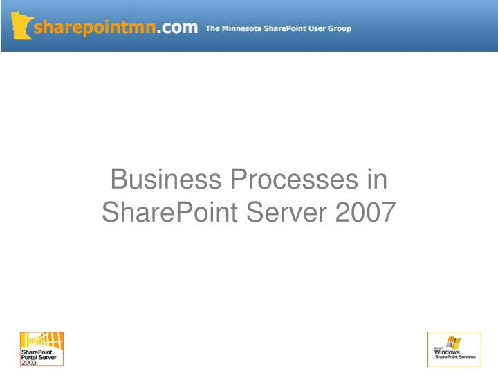 Business Processes in