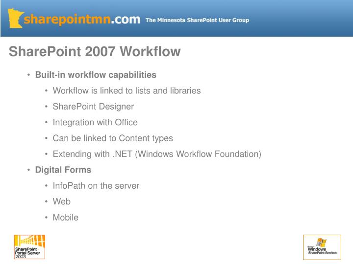 SharePoint 2007 Workflow