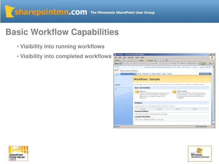 Basic Workflow Capabilities