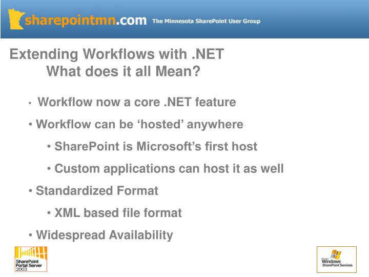 Extending Workflows with .NET