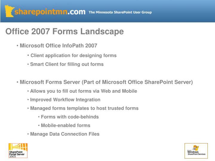 Office 2007 Forms Landscape