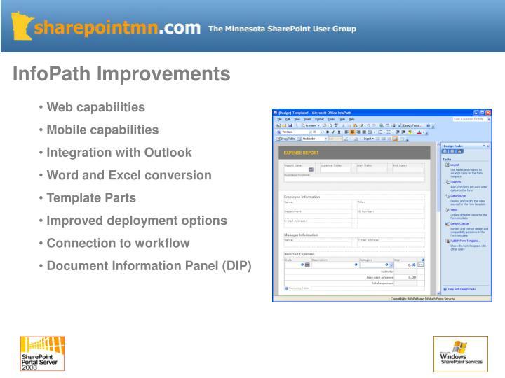 InfoPath Improvements