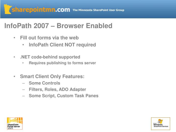 InfoPath 2007 – Browser Enabled