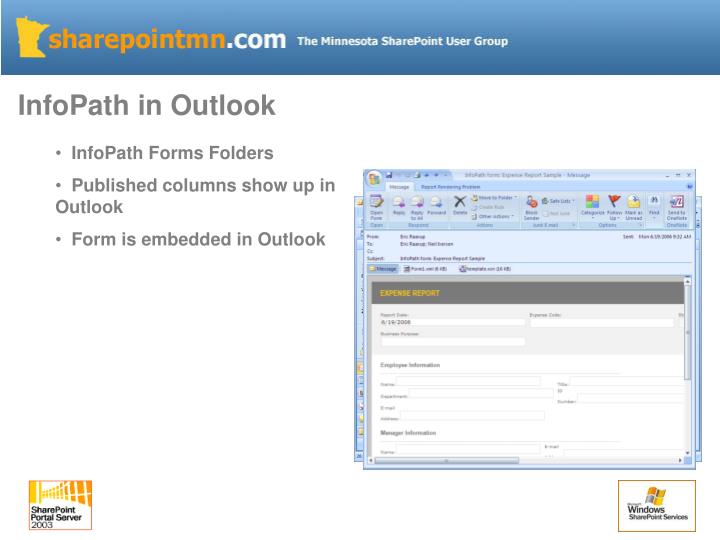 InfoPath in Outlook