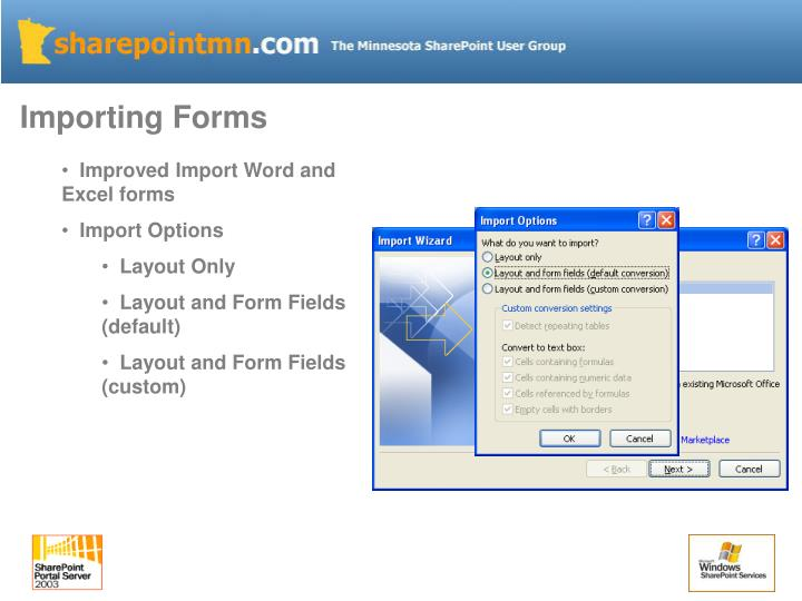 Importing Forms