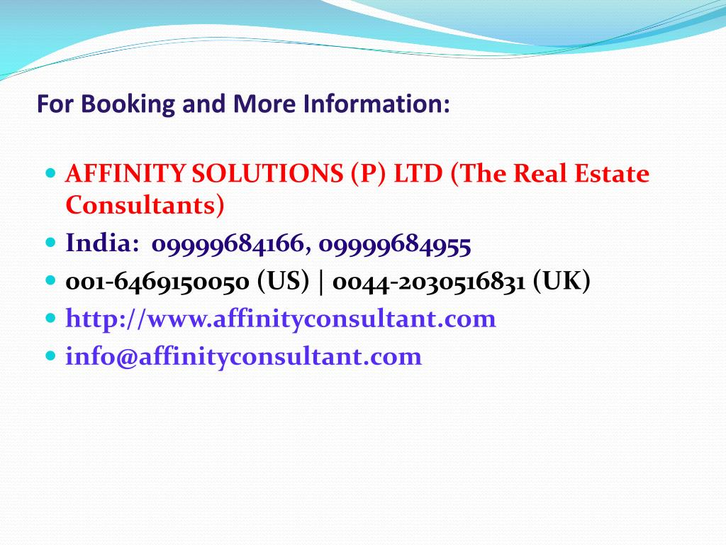 For Booking and More Information: