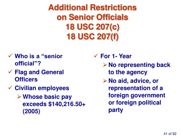 "Who is a ""senior official""?"