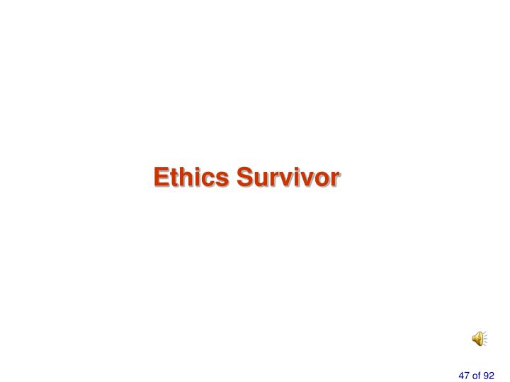 Ethics Survivor