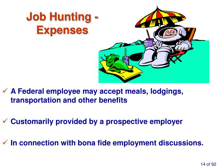 Job Hunting -                  Expenses