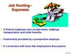 job hunting expenses