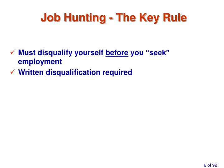 Job Hunting - The Key Rule