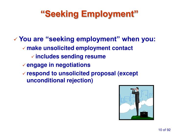 """Seeking Employment"""