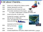 a bit about chandra