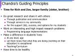 chandra s guiding principles