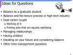 ideas for questions