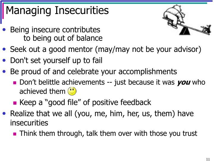 Managing Insecurities