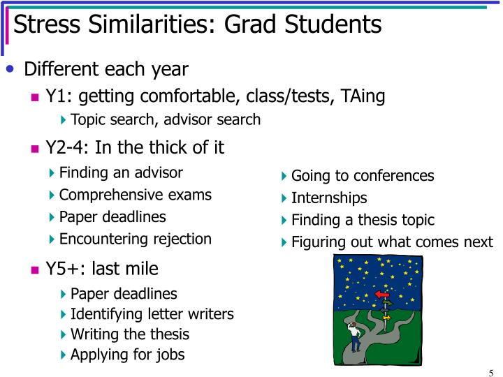 Stress Similarities: Grad Students