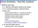 stress similarities post phd academic