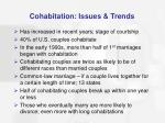 cohabitation issues trends