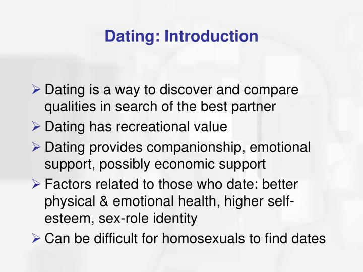 Dating: Introduction