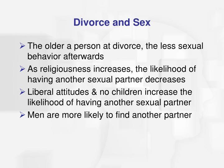 Divorce and Sex