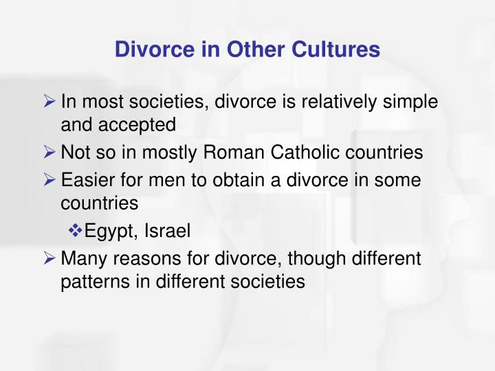 Divorce in Other Cultures