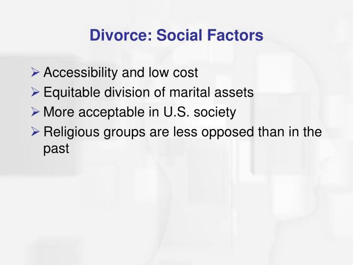 Divorce: Social Factors