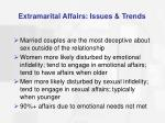 extramarital affairs issues trends