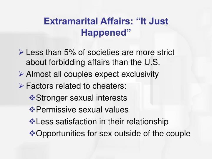 "Extramarital Affairs: ""It Just Happened"""