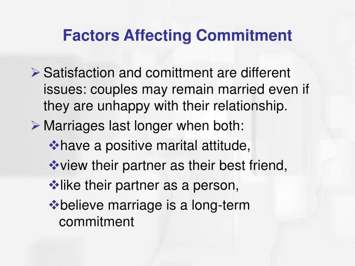 Factors Affecting Commitment