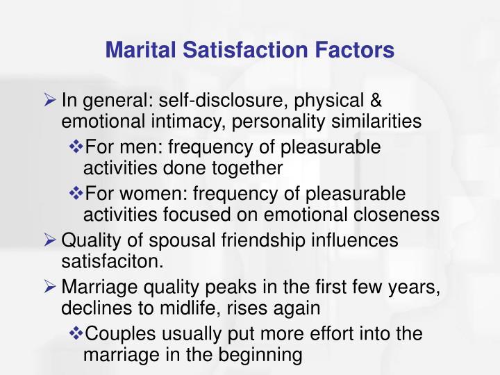 Marital Satisfaction Factors