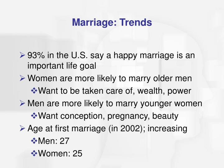 Marriage: Trends