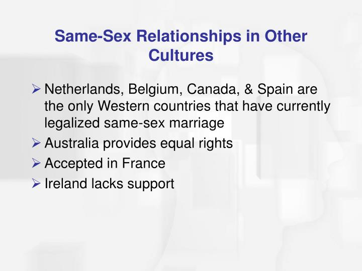 Same-Sex Relationships in Other Cultures