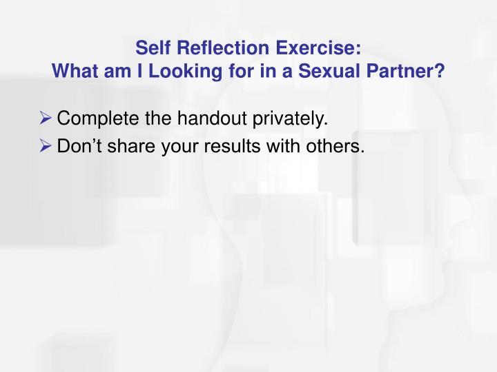 Self Reflection Exercise: