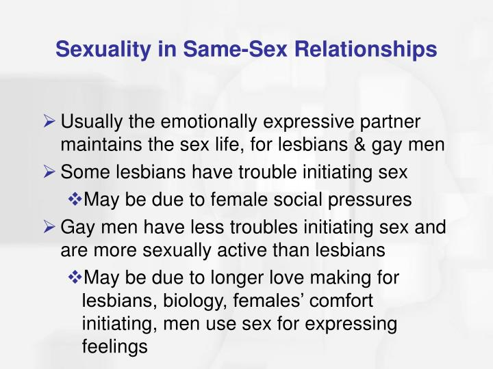 Sexuality in Same-Sex Relationships
