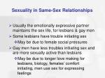 sexuality in same sex relationships