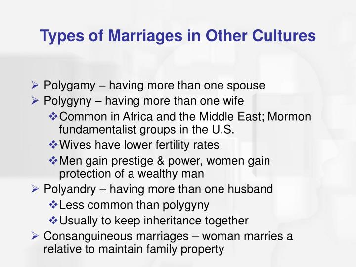 Types of Marriages in Other Cultures