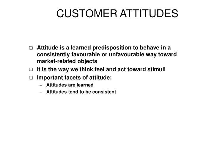 CUSTOMER ATTITUDES