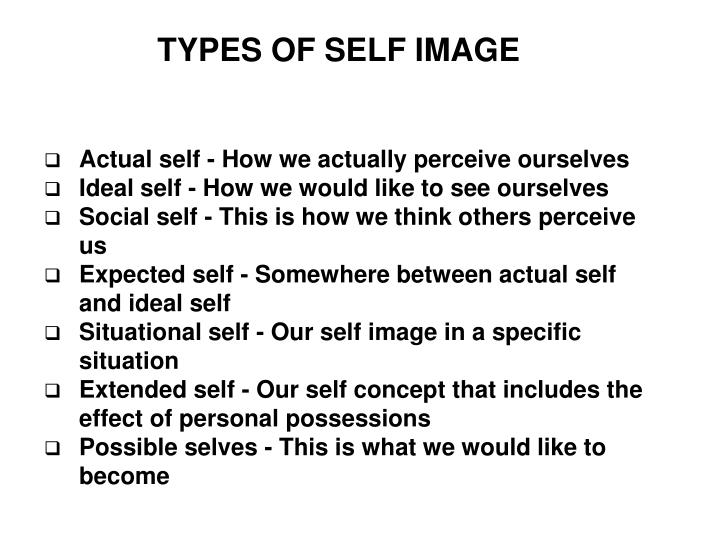 TYPES OF SELF IMAGE