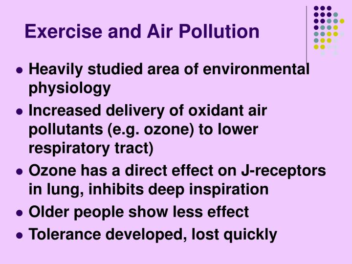 Exercise and Air Pollution