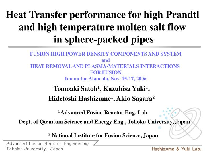 FUSION HIGH POWER DENSITY COMPONENTS AND SYSTEM