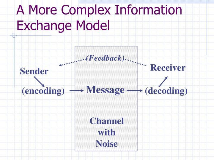 A More Complex Information Exchange Model