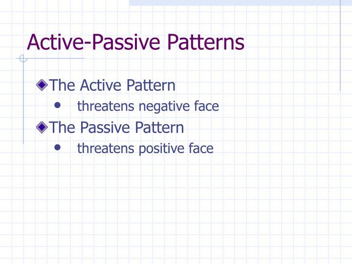 Active-Passive Patterns