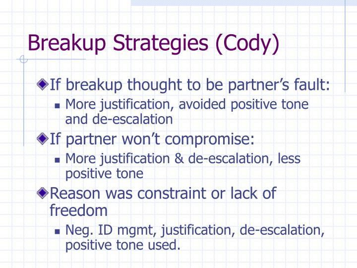Breakup Strategies (Cody)