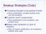 breakup strategies cody1